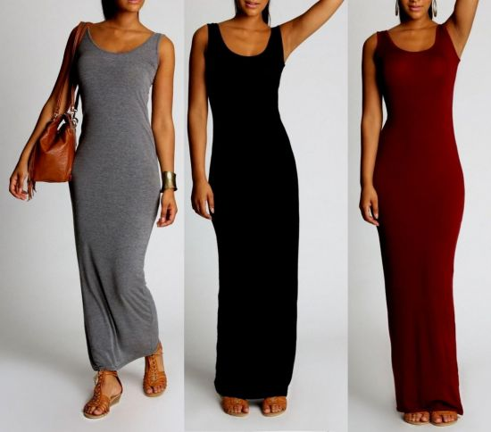casual long sleeve fitted maxi dress 2016-2017 | B2B Fashion