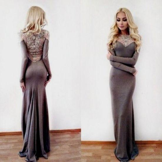 Long sleeve maxi dress casual