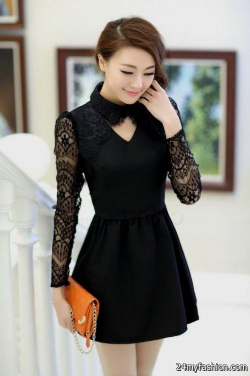 Casual Long Sleeve Short Dresses Looks B2b Fashion