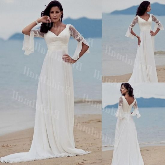 Casual Plus Size Wedding Dresses: Casual Plus Size Beach Wedding Dresses 2016-2017