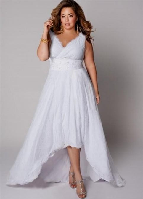 Casual plus size wedding dress 2016 2017 b2b fashion for Casual short wedding dresses for summer