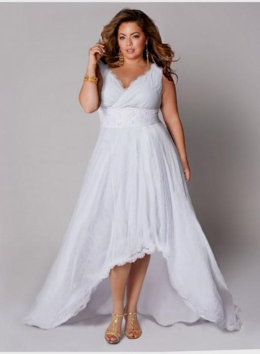Casual plus size wedding dress 2016 2017 b2b fashion for Plus size simple wedding dress
