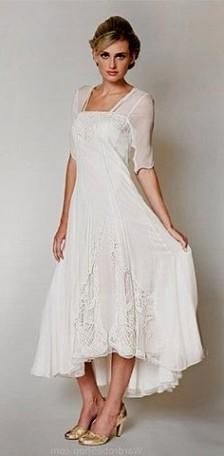 Casual wedding dresses for the older bride bridesmaid for Best place to buy a dress for a wedding