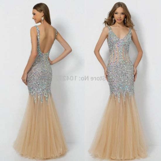 champagne mermaid prom dresses 20162017 b2b fashion