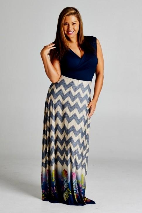 chevron maxi dresses plus size looks | B2B Fashion