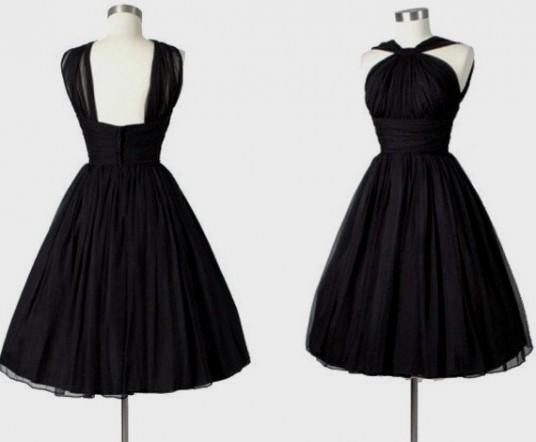 Classic Black Cocktail Dress - Ocodea.com