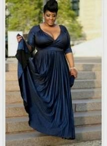 cobalt blue plus size bridesmaid dresses looks | B2B Fashion