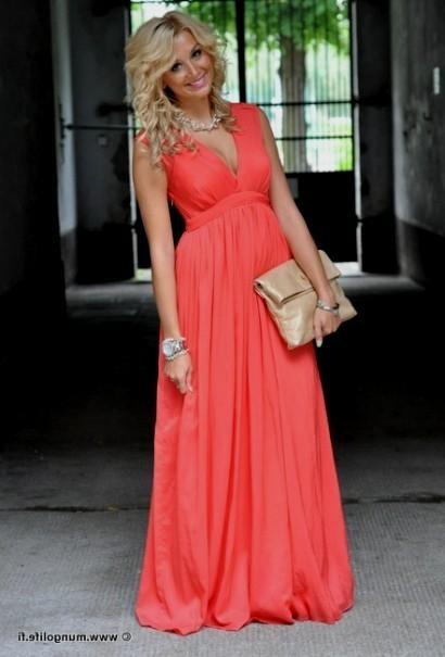 coral casual maxi dress 2016-2017 » B2B Fashion
