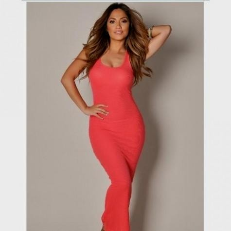 coral casual maxi dress looks  10392b636