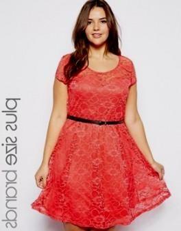 coral lace dress plus size 2016-2017 | B2B Fashion