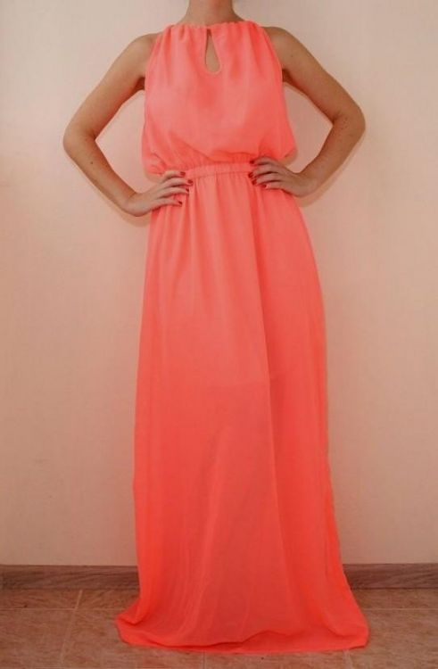 You can share these coral maxi dress on Facebook da61c4e36