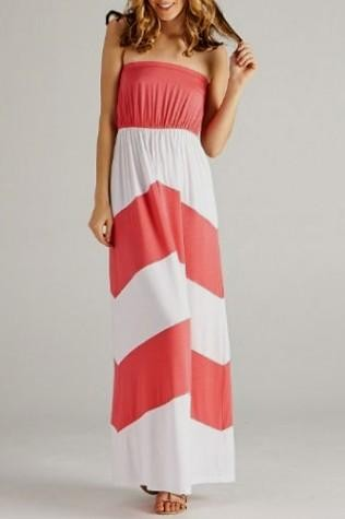 You can share these coral plus size maxi dress on Facebook 226dba065