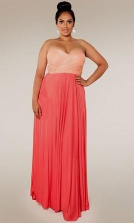 Coral Plus Size Maxi Dress 2016 2017 B2b Fashion
