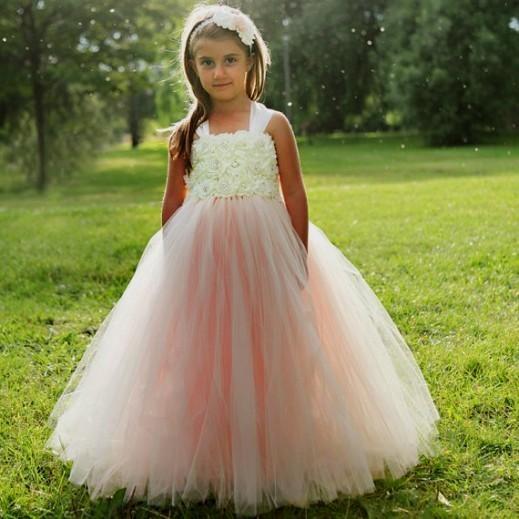 Country Themed Flower Girl Dresses - Flower