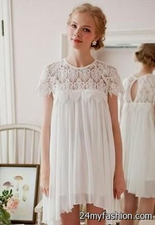 White Lace Sun Dress