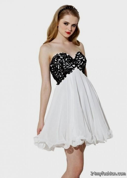 cute black and white dresses for juniors looks | B2B Fashion