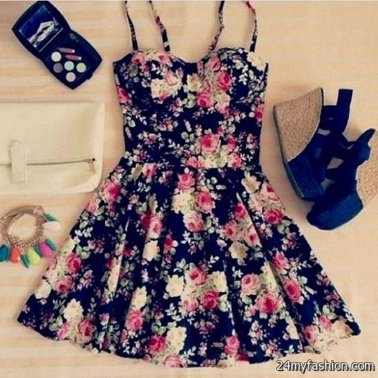 cute floral dresses tumblr 2016-2017 | B2B Fashion
