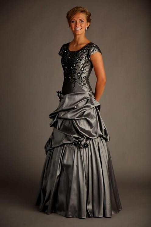Cute Modest Prom Dresses With Sleeves Looks B2b Fashion