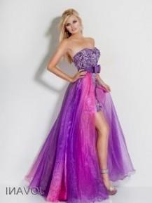 Cute prom dresses long purple
