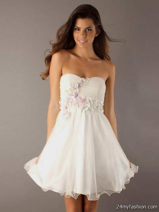 Cute White Party Dresses   maxetk