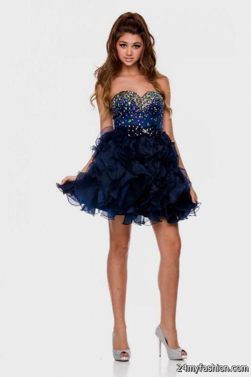 Prom Dresses Dark Blue Short - Plus Size Prom Dresses