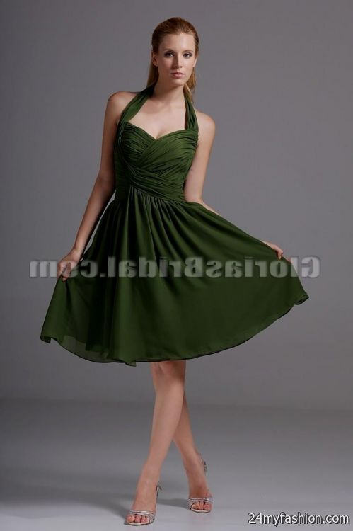 dark green cocktail dress 2016-2017 | B2B Fashion