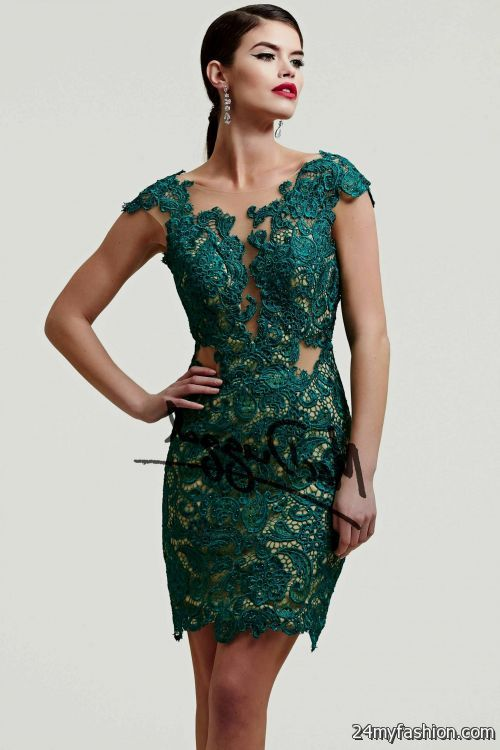 dark green party dress 2016-2017 | B2B Fashion