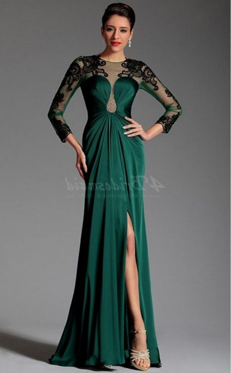 dark green prom dress sleeves 2016-2017 » B2B Fashion