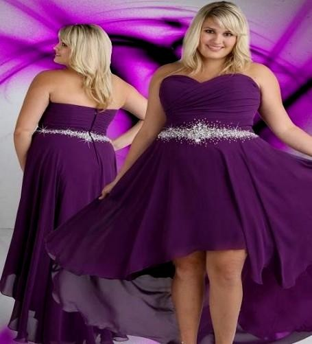 Dark purple bridesmaid dresses plus size 2016 2017 b2b for Plus size purple wedding dress
