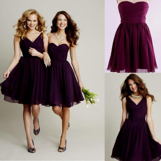 7aa2ffc4313d2 Dark Purple Bridesmaid Dresses Under 100 - Dress Foto and Picture
