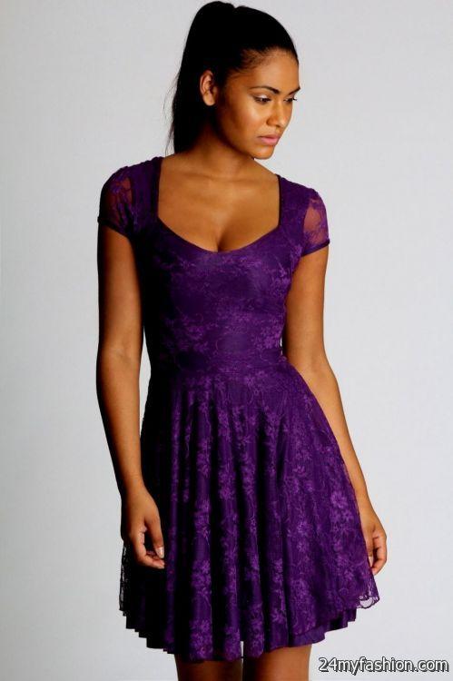dark purple skater dress 2016-2017 » B2B Fashion