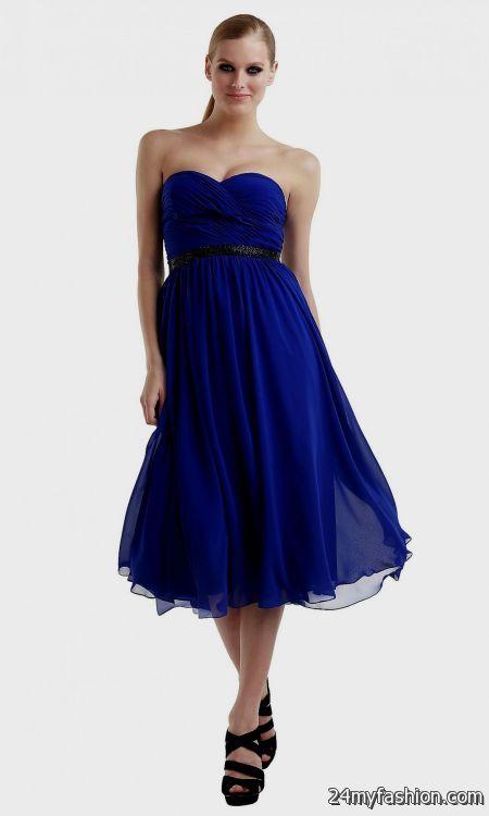 dark royal blue bridesmaid dresses short 2016-2017 » B2B Fashion