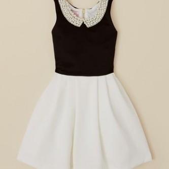 Black n white dresses for girls 7-16 images