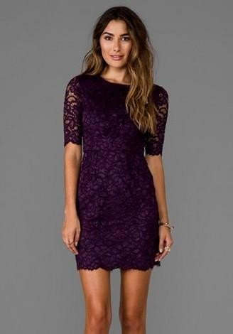eggplant cocktail dress 2016-2017 | B2B Fashion