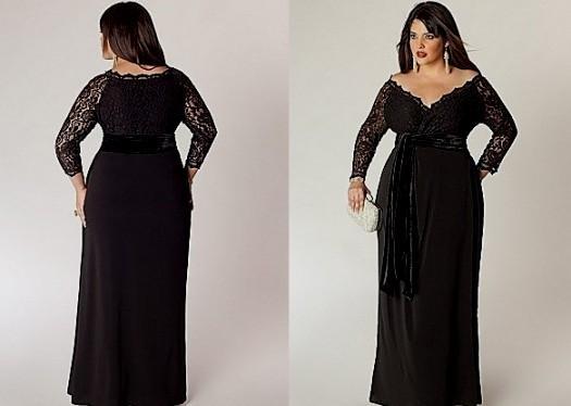 elegant black dress plus size « clothing for large ladies