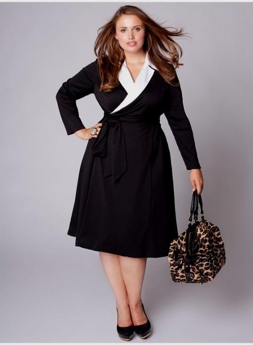 Elegant black dress plus size