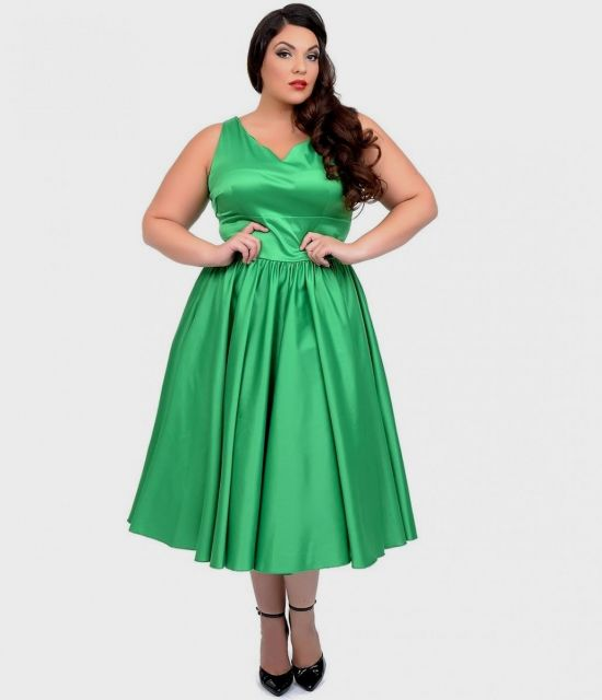 Emerald Green Lace Dress Plus Size Looks B2b Fashion
