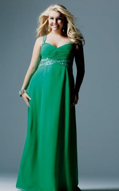Emerald Green Plus Size Bridesmaid Dresses Looks B2b Fashion