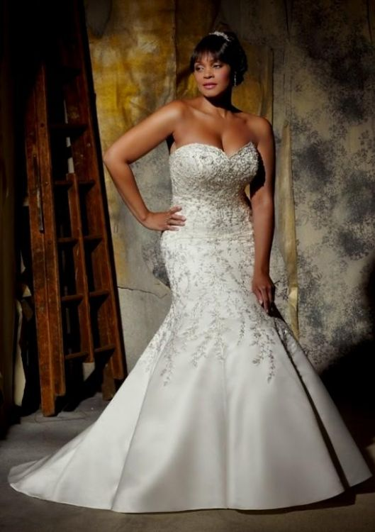 Fit And Flare Wedding Dress Plus Size Looks B2b Fashion