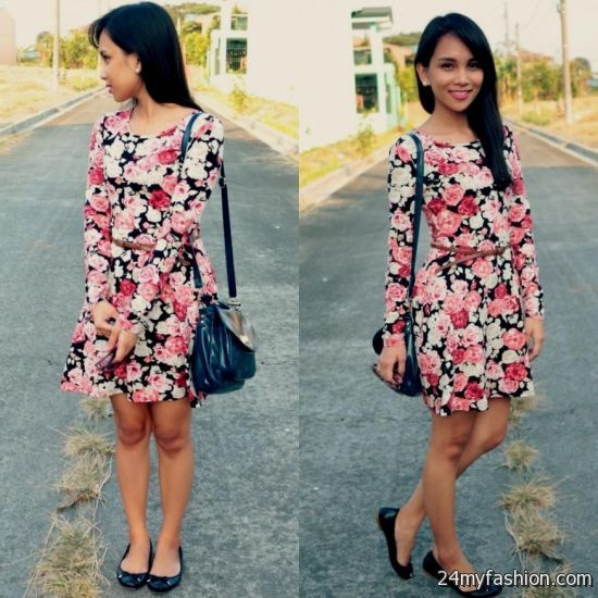 floral skater dress outfits