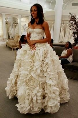 floral wedding dress say yes to the dress looks | B2B Fashion