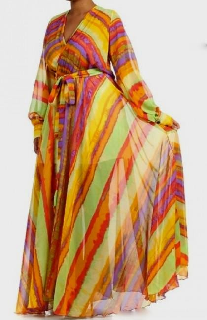 Full sweep chiffon maxi dress