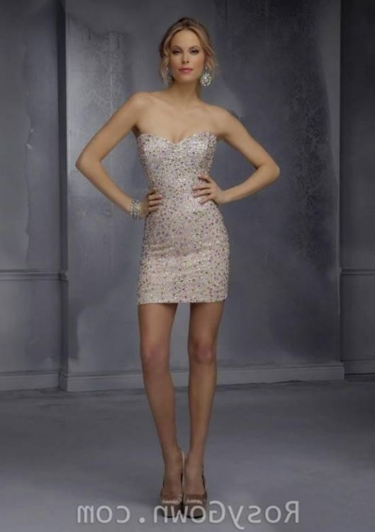 Gold Bodycon Homecoming Dress - Missy Dress