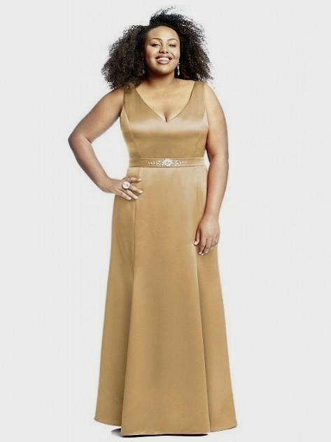 Gold dress for plus size dress blog edin for Gold wedding dresses plus size