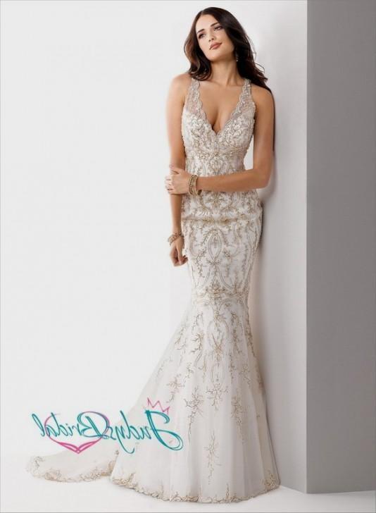 gold mermaid wedding dress 20162017 b2b fashion
