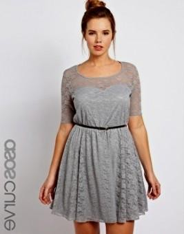 Gray Lace Dress Plus Size Looks B2b Fashion