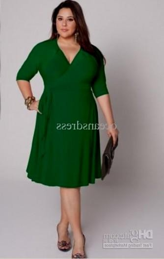 Green Plus Size Dresses - Prom Dresses With Pockets