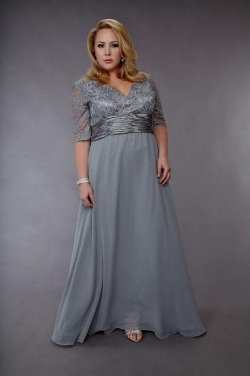 Grey dresses plus sizes