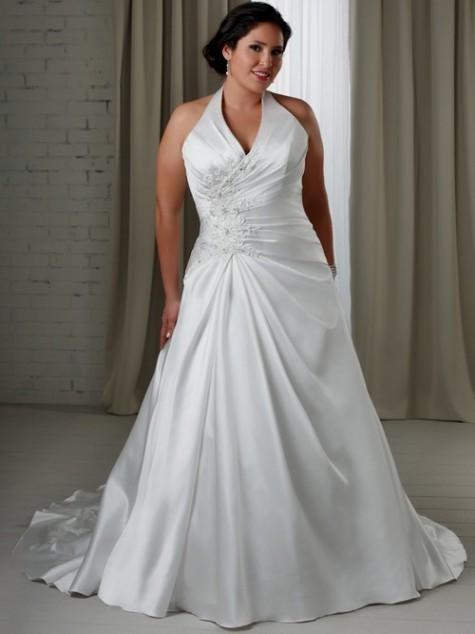 halter wedding dress plus size looks | B2B Fashion