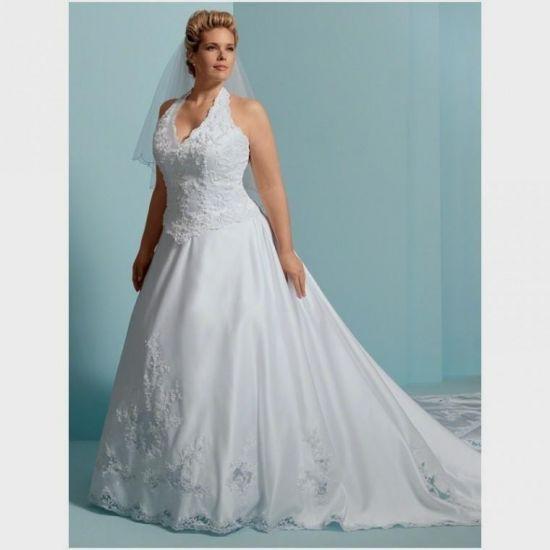 halter wedding dresses for plus size women looks | B2B Fashion